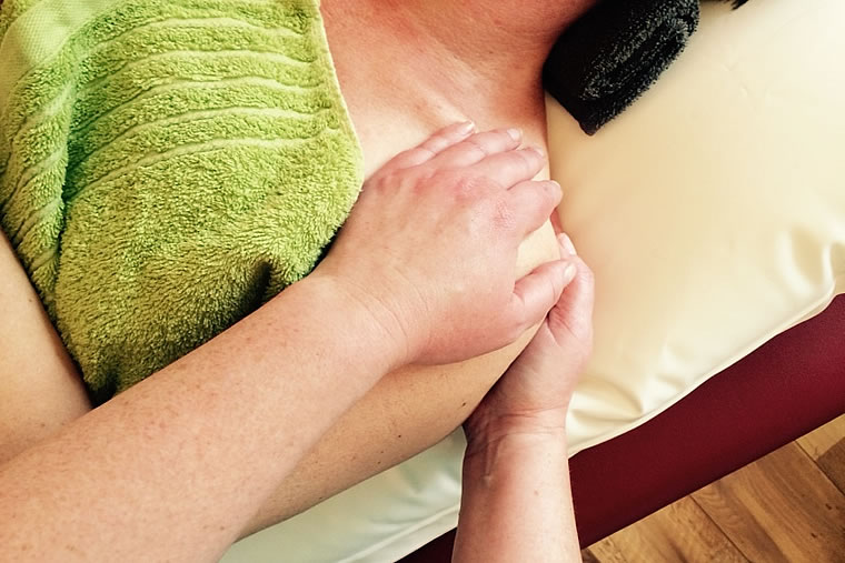 Warm-waterkussen massage